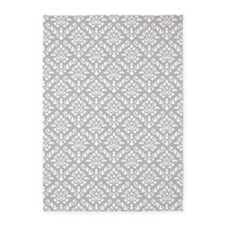 Baroque Damask Wg Repeat Pattern 5'x7'area Rug