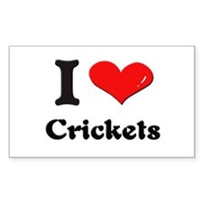I love crickets Rectangle Stickers