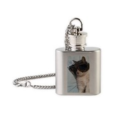 Cool Cat  Flask Necklace