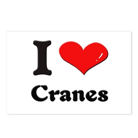 I love cranes Postcards (Package of 8)