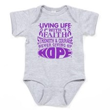 Ulcerative Colitis Faith Baby Bodysuit