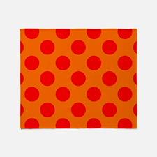 Orange Polkadots Throw Blanket