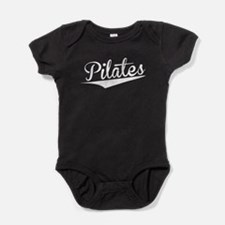 Pilates, Retro, Baby Bodysuit