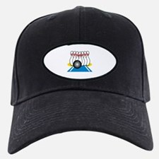 Bowling Ball & Pins Baseball Hat