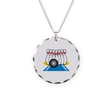 Bowling Ball & Pins Necklace