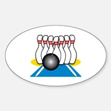 Bowling Ball & Pins Decal