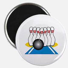 Bowling Ball & Pins Magnets