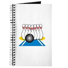 Bowling Ball & Pins Journal