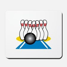 Bowling Ball & Pins Mousepad
