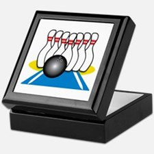Bowling Ball & Pins Keepsake Box