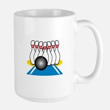 Bowling Ball & Pins Mugs