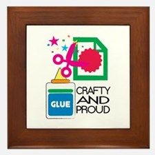 Crafty And Proud Framed Tile