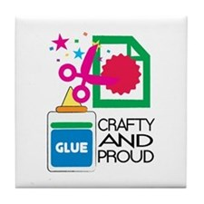 Crafty And Proud Tile Coaster