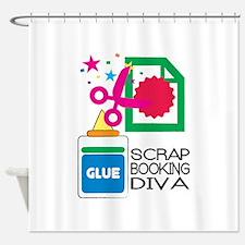 Scrap Booking Diva Shower Curtain