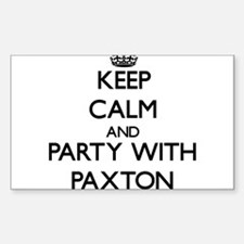 Keep calm and Party with Paxton Decal