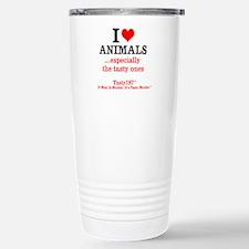 I Love Animals...esp. Stainless Steel Travel Mug