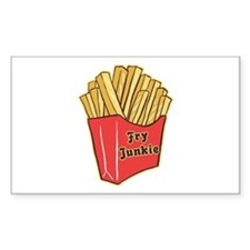 French Fry Junkie Rectangle Decal