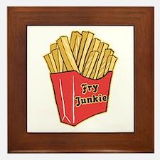 French Fry Junkie Framed Tile