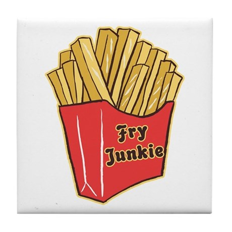 French Fry Junkie Tile Coaster