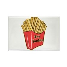 French Fry Junkie Rectangle Magnet