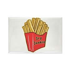 French Fry Junkie Rectangle Magnet (10 pack)