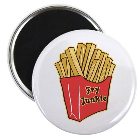 French Fry Junkie Magnet