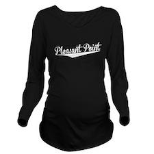 Pleasant Point, Retro, Long Sleeve Maternity T-Shi