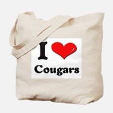 I love cougars Tote Bag