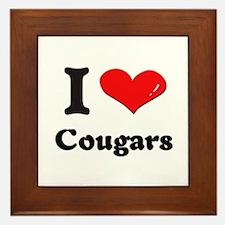 I love cougars  Framed Tile