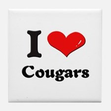 I love cougars  Tile Coaster