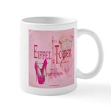 paris eiffel tower pink corset Mugs
