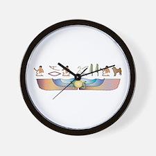 Sheepdog Hieroglyphs Wall Clock