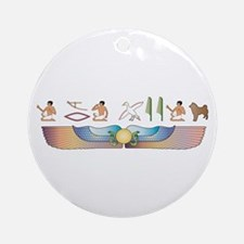 Sheepdog Hieroglyphs Ornament (Round)