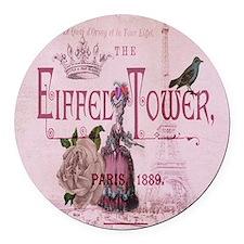 pink vintage chandelier paris eiffel tower Round C
