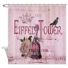 pink vintage chandelier paris eiffel tower Shower