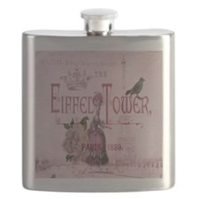 pink vintage chandelier paris eiffel tower Flask