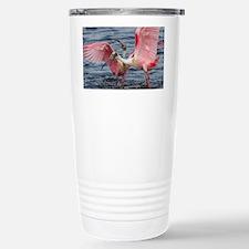 Upset Spoonbills Stainless Steel Travel Mug