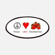 Peace Love Strawberries Patches