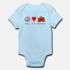 Peace Love Strawberries Infant Bodysuit