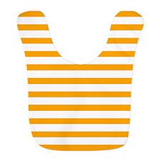 White and Orange Stripes Bib