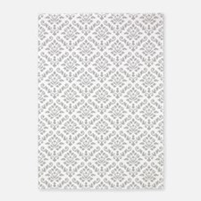 Baroque Damask Gw Repeat Pattern 5'x7'area Rug