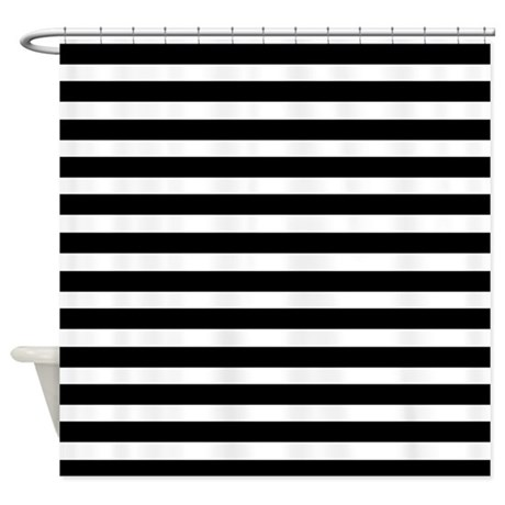 Black And White Stripes Shower Curtain By CoolPatterns