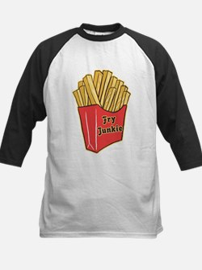 French Fry Junkie Kids Baseball Jersey