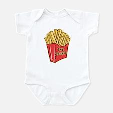 French Fry Junkie Funny Baby Bodysuit