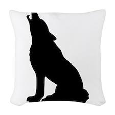 Howling Wolf Woven Throw Pillow