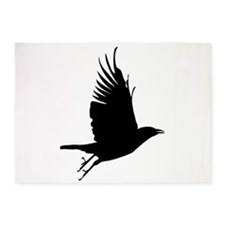 Crow Silhouette 5'x7'Area Rug