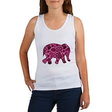 Pink Paisley Elephant Women's Tank Top
