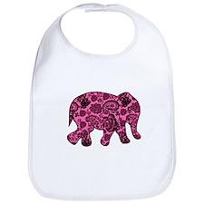 Pink Paisley Elephant Bib
