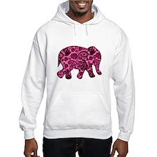 Pink Paisley Elephant Hoodie