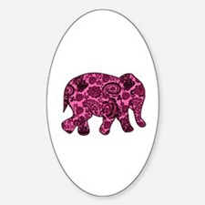 Pink Paisley Elephant Decal